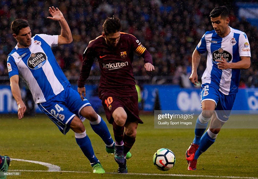 Deportivo La Coruna v Barcelona - La Liga : News Photo
