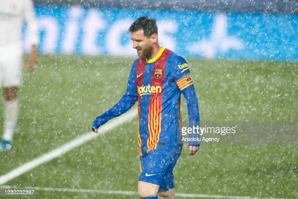 Lionel Messi of FC Barcelona is seen during the Spanish league, La Liga, football match played between Real Madrid and FC Barcelona at Alfredo Di...