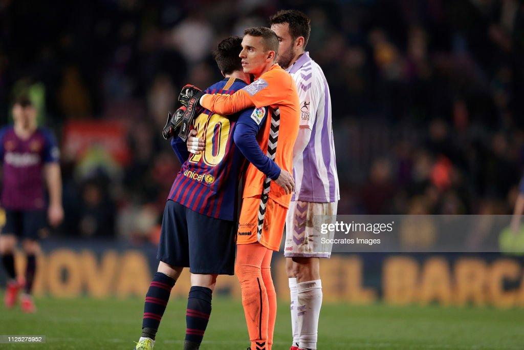 FC Barcelona v Real Valladolid - La Liga Santander : ニュース写真