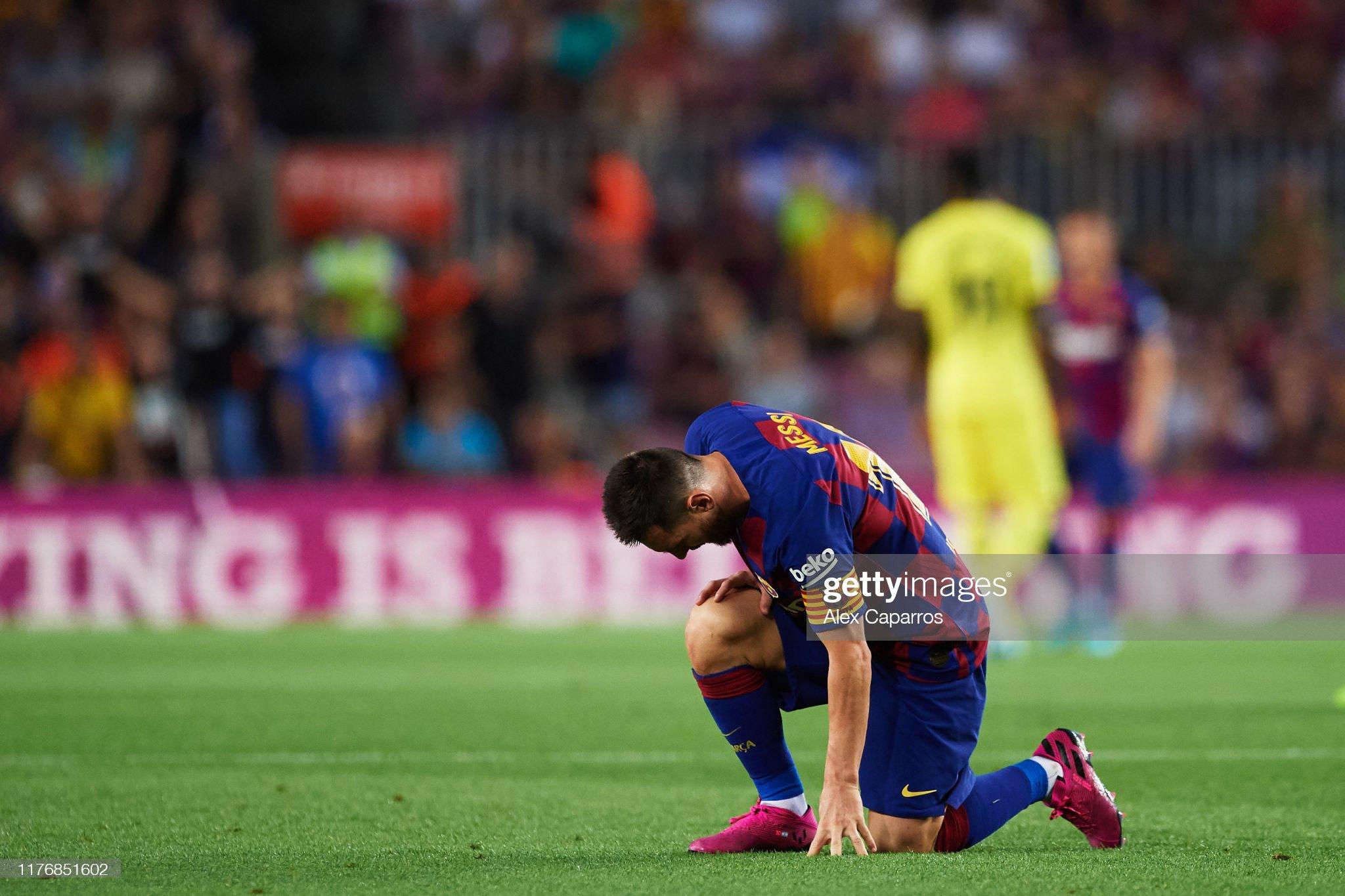 صور مباراة : برشلونة - فياريال 2-1 ( 24-09-2019 )  Lionel-messi-of-fc-barcelona-lays-on-the-pitch-during-the-liga-match-picture-id1176851602?s=2048x2048