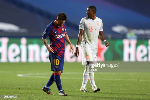 1 313 Messi Vs Bayern Photos And Premium High Res Pictures Getty Images