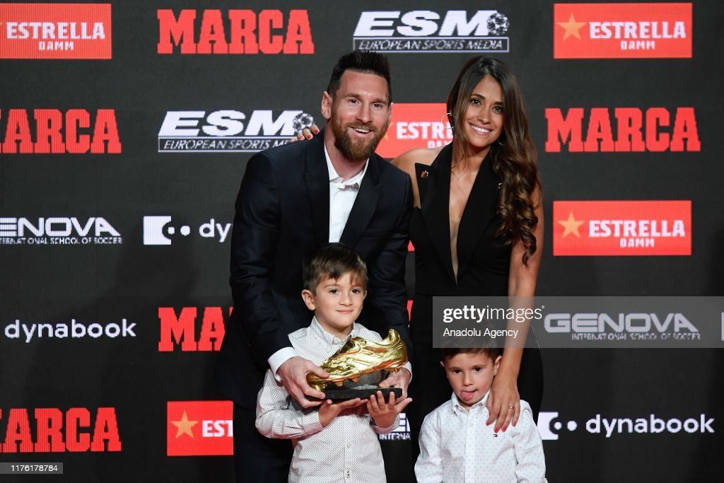Lionel Messi wins sixth Golden Shoe award : News Photo