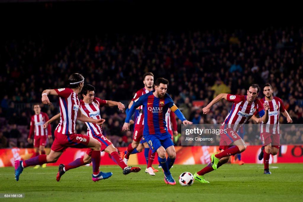 FC Barcelona v Atletico Madrid - Copa Del Rey Semi-final: Second Leg : News Photo