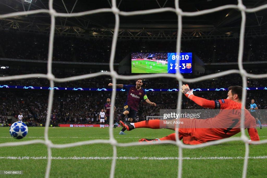 Tottenham Hotspur v FC Barcelona - UEFA Champions League Group B : News Photo