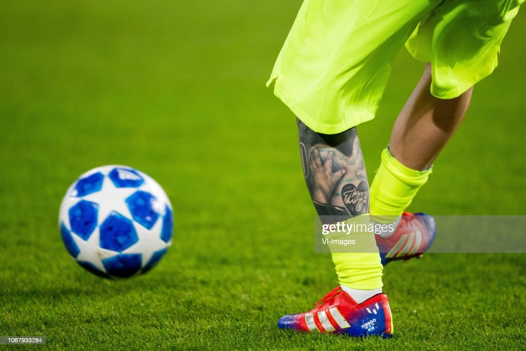 Lionel Messi Of Fc Barcelona Thiago Messi Tattoo Shoe Adidas News Photo Getty Images
