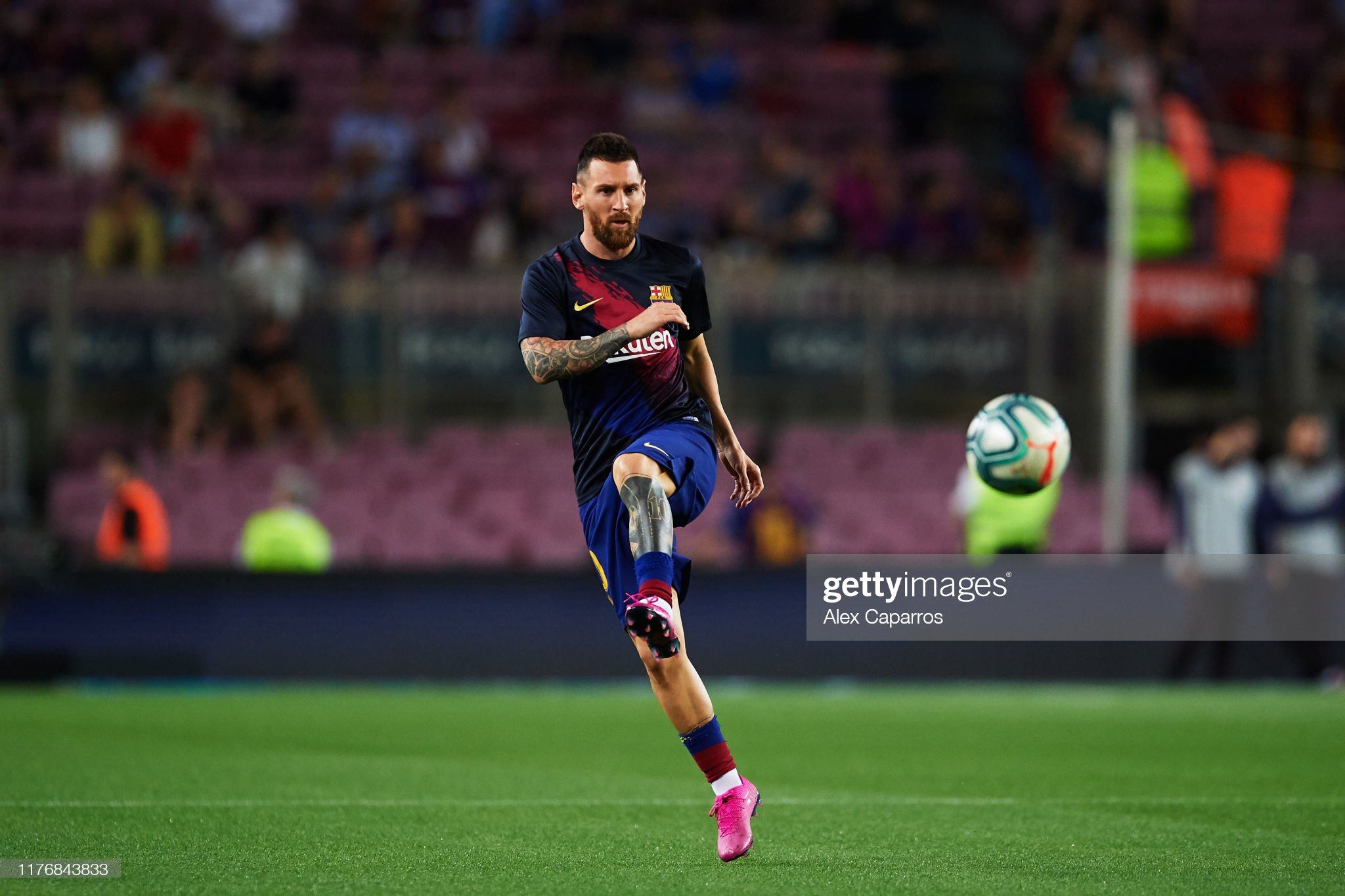 صور مباراة : برشلونة - فياريال 2-1 ( 24-09-2019 )  Lionel-messi-of-fc-barcelona-warms-up-before-the-liga-match-between-picture-id1176843833?s=2048x2048