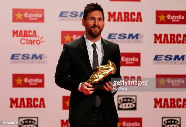 Lionel Messi received his fourth Golden Boot award on Friday for leading all of Europe's leagues in scoring last season It was his fourth award...