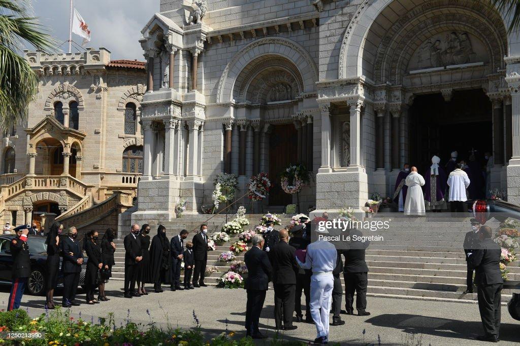 Elizabeth-Ann De Massy's Funerals In Monaco : News Photo