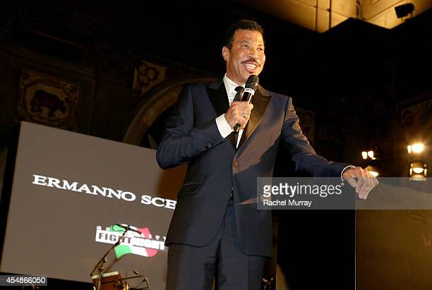 Lionel Richie accepts award during the Celebrity Fight Night gala celebrating Celebrity Fight Night In Italy benefitting The Andrea Bocelli...