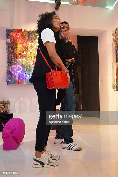 Lionel Richie and Lisa Parigi are seen on November 12 2015 in Rome Italy