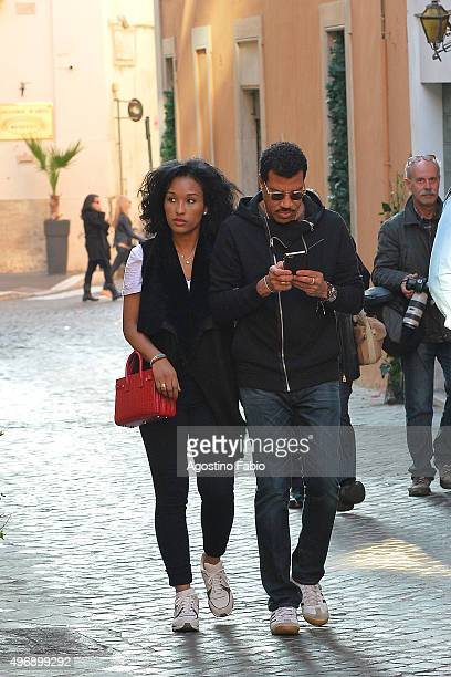 Lionel Richie and Lisa Parigiare seen on November 12 2015 in Rome Italy
