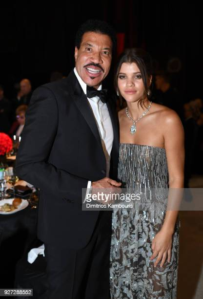 Lionel Richie and Sofia Richie attends the 26th annual Elton John AIDS Foundation Academy Awards Viewing Party sponsored by Bulgari celebrating EJAF...