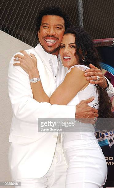Lionel Richie and wife Diane during Lionel Richie Honored with a Star on the Hollywood Walk of Fame for His Achievements in Music at Hollywood...