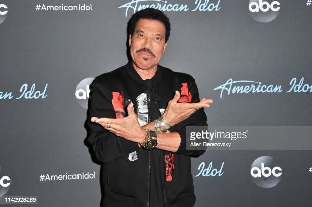 Lionel Richie arrives at ABC's American Idol live show on April 15 2019 in Los Angeles California