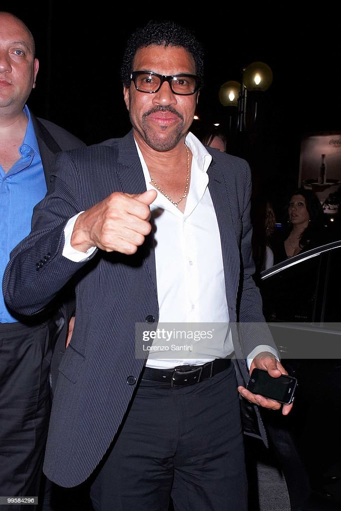 Lionel Richie arrives at the Jimmy'z Club of Cannes on May 15, 2010 in Cannes, France.