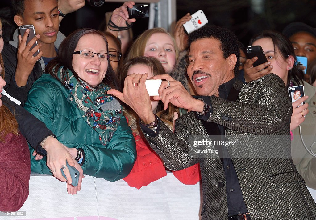 Lionel Richie attends the BRIT Awards 2015 at The O2 Arena on February 25, 2015 in London, England.