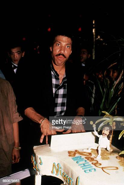 Lionel Richie celebrates the success of his hit song 'All Night Long ' circa 1983 in New York City