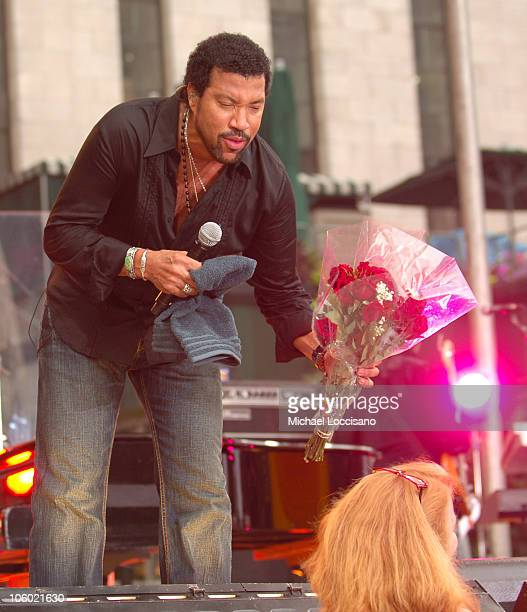 Lionel Richie during Lionel Richie Performs for the Final 'GMA Summer Series' Concert of 2006 at Bryant Park in New York City New York United States
