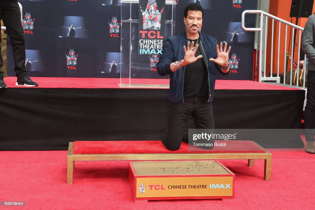 Lionel Richie Hand And Footprint Ceremony at TCL Chinese Theatre on March 7, 2018 in Hollywood, California.