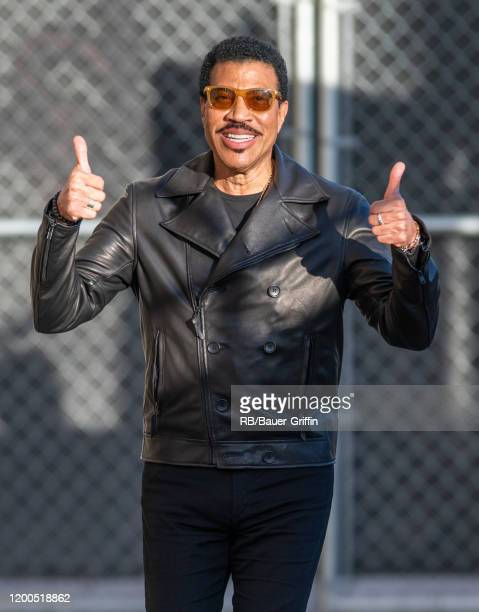 Lionel Richie is seen at 'Jimmy Kimmel Live' on February 12, 2020 in Los Angeles, California.