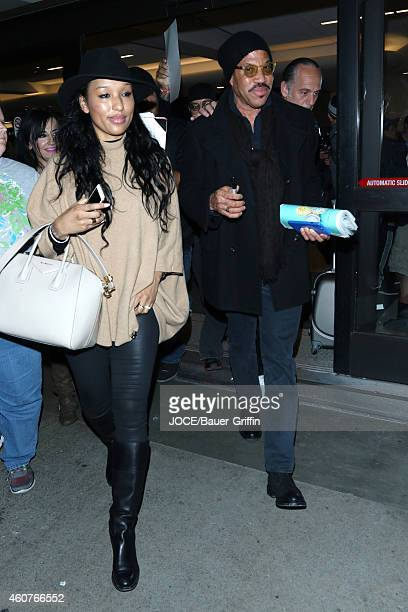 Lionel Richie is seen at LAX on December 21 2014 in Los Angeles California