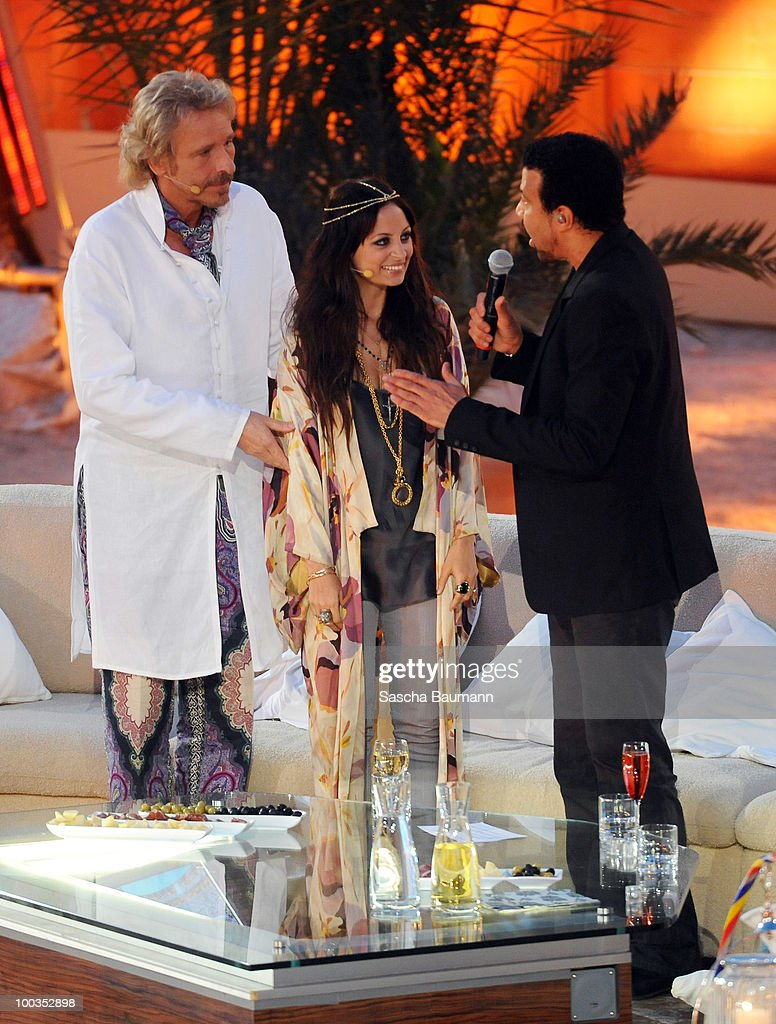 Lionel Richie, Nicole Richie, Thomas Gottschalk attend the Wetten Dass...? Summer Edition on May 23, 2010 in Palma de Mallorca, Spain.