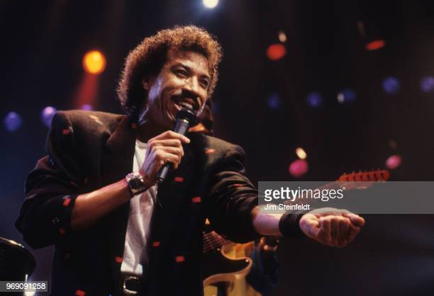 Lionel Richie on the Dancing On The Ceiling tour performs at the St Paul Civic Center in St Paul Minnesota on October 3 1986