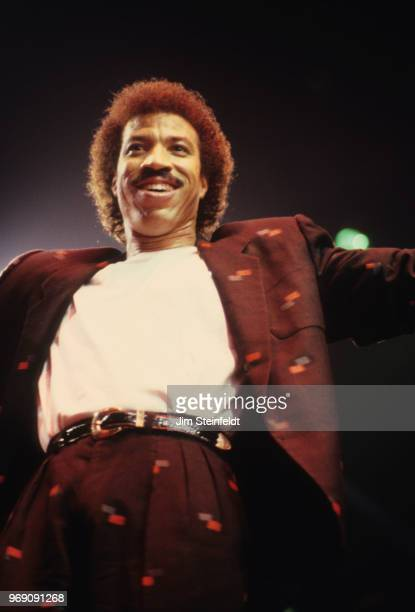 Lionel Richie on the Dancing On The Ceiling tour performs at the St. Paul Civic Center in St. Paul, Minnesota on October 3, 1986.
