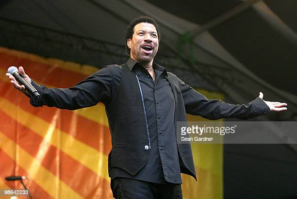 Lionel Richie performs at the 2010 New Orleans Jazz Heritage Festival Presented By Shell at the Fair Grounds Race Course on April 23 2010 in New...