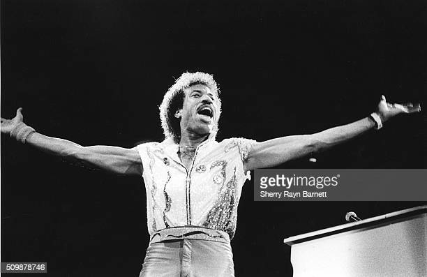 Lionel Richie performs at the Grammy Awards at the Shrine Auditorium at 1983 in Los Angeles