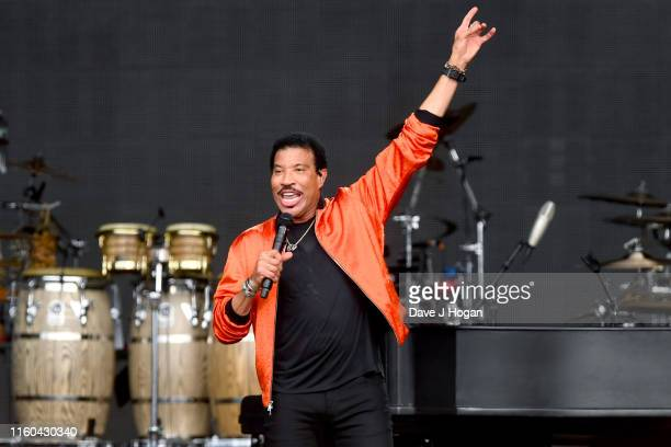 Lionel Richie performs during Barclaycard Presents British Summer Time Hyde Park at Hyde Park on July 06 2019 in London England