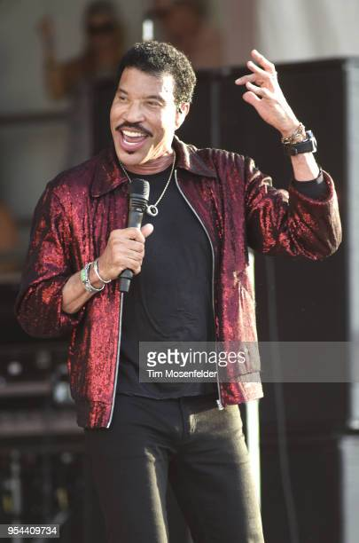 Lionel Richie performs during the 2018 New Orleans Jazz Heritage Festival at Fair Grounds Race Course on May 3 2018 in New Orleans Louisiana