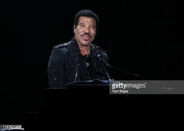 Lionel Richie performs in Hard Rock Live at the Etess Arena at Hard Rock Hotel Casino on Friday March 22 2019 in Atlantic City New Jersey