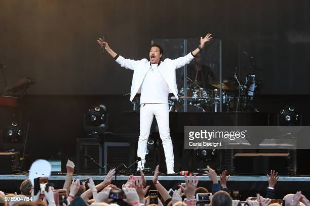 Lionel Richie performs live on stage at Scarborough Open Air Theatre on June 19 2018 in Scarborough England