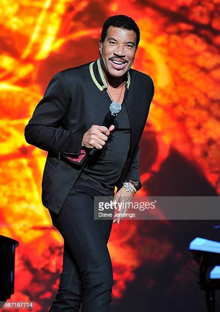 Lionel Richie performs on Day 3 of Outside Lands Music and Arts Festival at Golden Gate Park on August 7 2016 in San Francisco California