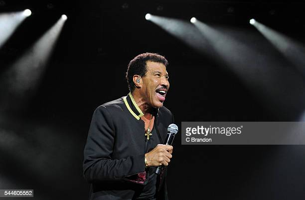 Lionel Richie performs on stage at the O2 Arena on July 2 2016 in London England