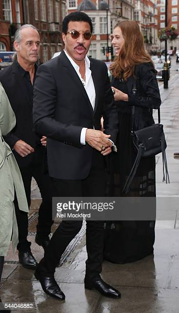 Lionel Richie seen arriving at Nordoff Robbins' Silver Clef Awards at Grosvenor House on July 1, 2016 in London, England.
