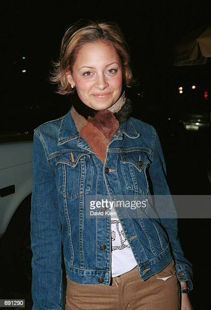 Lionel Ritchies daughter Nickie Ritchie poses outside of Josephs club January 7, 2002 in Hollywood, CA.
