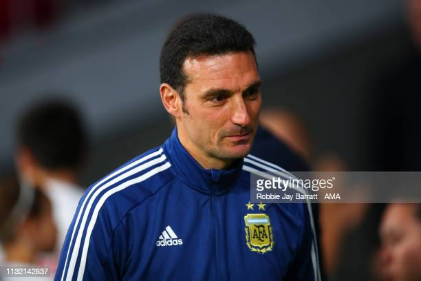 Lionel Scaloni the head coach / manager of Argentina during the International Friendly match between Argentina and Venezuela at Estadio Wanda...