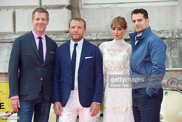Lionel Wigram Guy Ritchie Jacqui Ainsley and Henry Cavill attend the people's premiere of 'The Man From UNCLE' during Film4 Summer Screenings at...