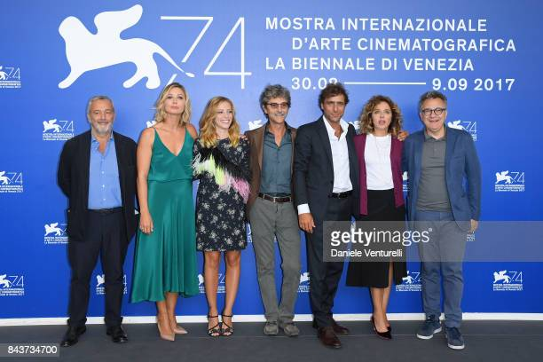 Lionello Cerri Anna Ferzetti Laura Adriani Silvio Soldini Adriano Giannini Valeria Golino and Paolo Del Brocco attend the 'Emma ' photocall during...