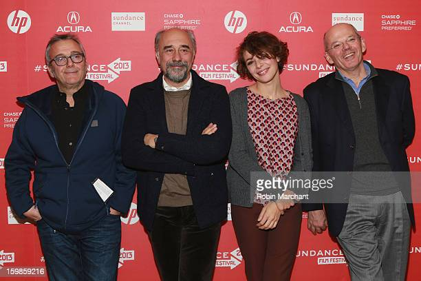 "Lionello Cerri, Giorgio Diritti, Jasmine Trinca and Carlo Brancaleoni attend the ""There Will Come A Day"" premiere at Egyptian Theatre during the 2013..."