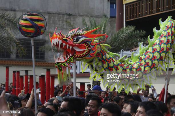 Liong or Lion dance took a part in the China Town Festival 2019 in Jakarta on Tuesday February 19 2019 The festival is held in the framework of the...