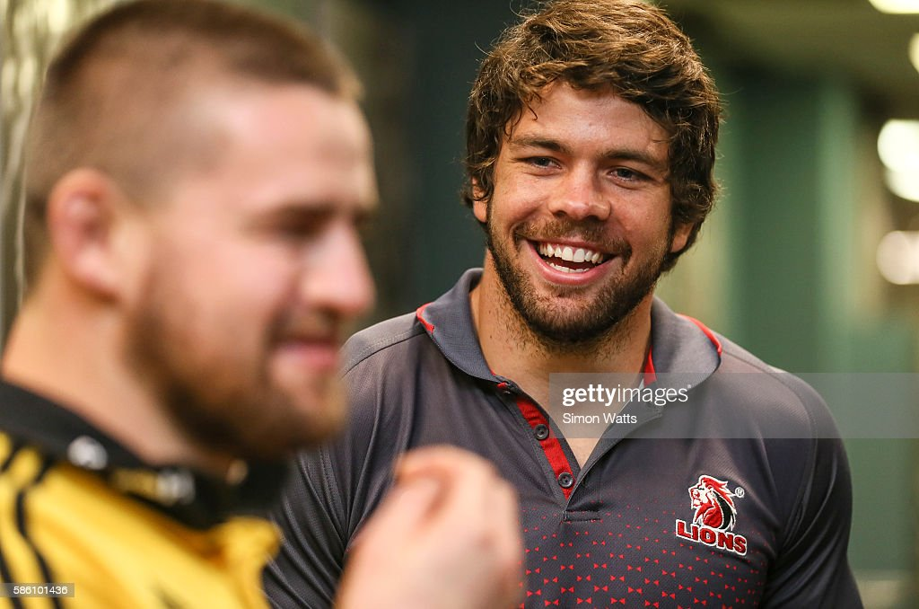 Lions captain Warren Whiteley during the Super Rugby Final media opportunity at Westpac Stadium on August 5, 2016 in Wellington, New Zealand.
