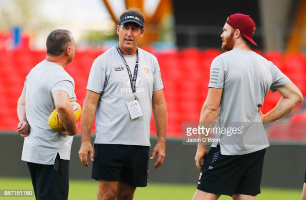 Lions coach Craig Starcevich during the Brisbane Lions Women's AFL training session on March 24 2017 in Gold Coast Australia