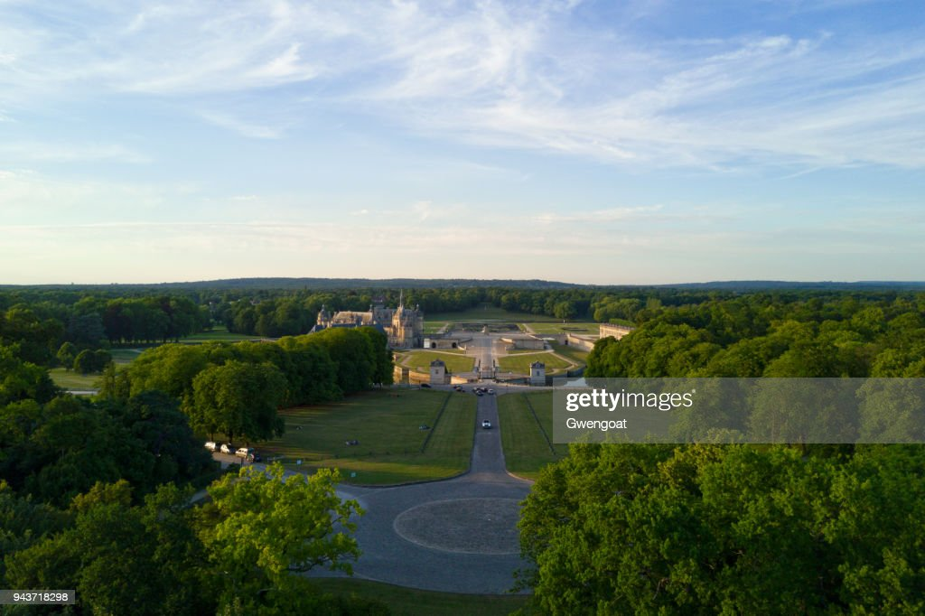 Carrefour des Lions in Chantilly (Oise) : Stock Photo