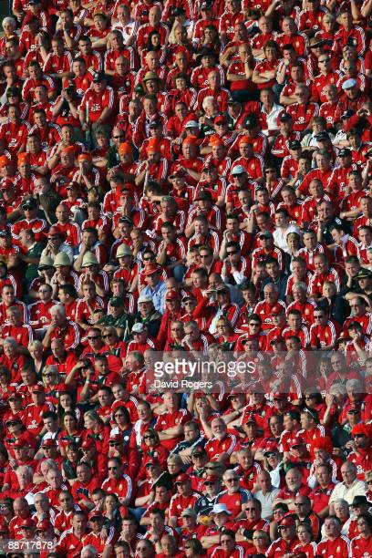 Lions fans show their support during the Second Test match between South Africa and the British and Irish Lions at Loftus Versfeld on June 27, 2009...