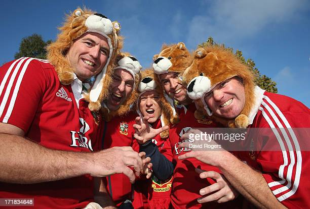 Lions fans show their support for the team prior to game two of the International Test Series between the Australian Wallabies and the British Irish...