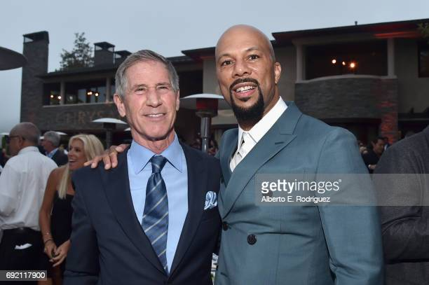 Lions Gate Entertainment, Jon Feltheimer and Honoree Common at the 16th Annual Chrysalis Butterfly Ball on June 3, 2017 in Los Angeles, California.