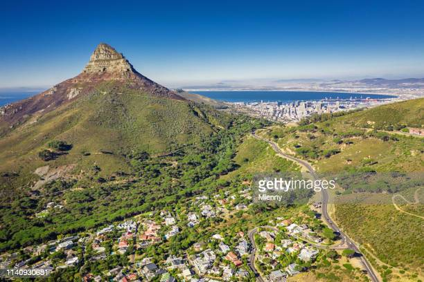 Lion's Head Aerial View Cape Town Camps Bay South Africa